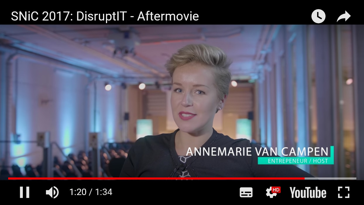 Annemarie van Campen aftermovie Disrupt IT